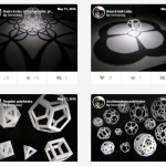 3d printed models of tridimensional geometrical forms and math functions