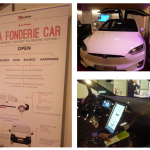 collage of photographs of connected, open source car by La Fonderie